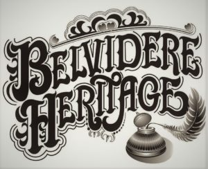 Belvidere Heritage loge in sepia tones