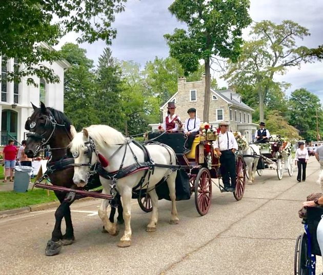 Photo of horse and carriage rides at Victorian Days 2018