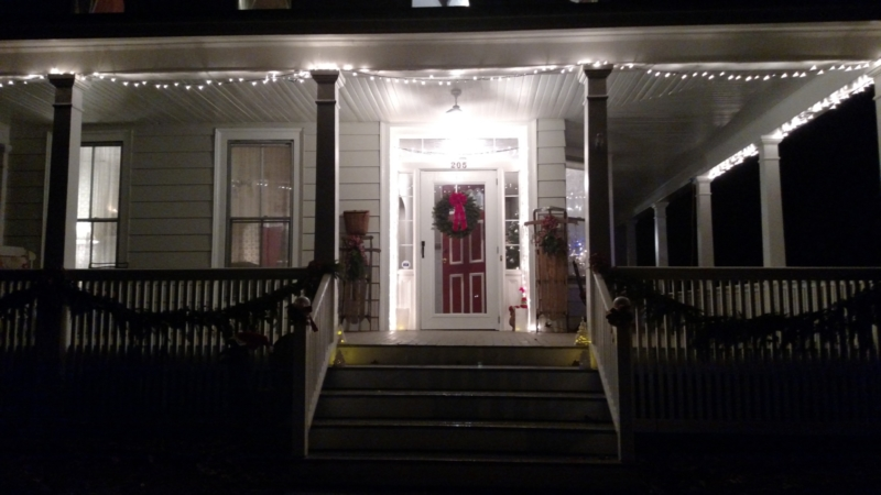 Merry Christmas!  Homes are decorated and welcoming to visitors on the Wassail Tour.