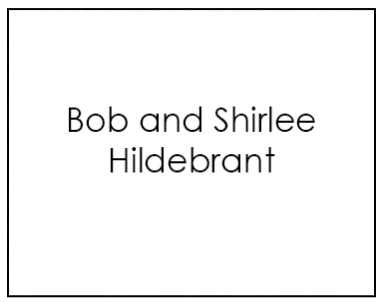 Bob and ShirleyHildebrant